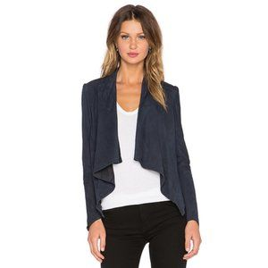 LaMarque Navy Madison Asymmetric Suede Jacket